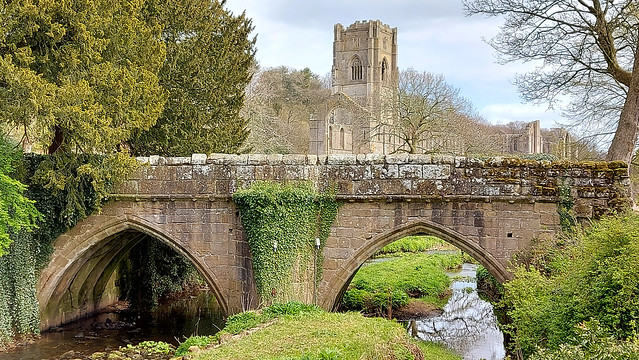 Fountains Abbey, North Yorkshire, England.