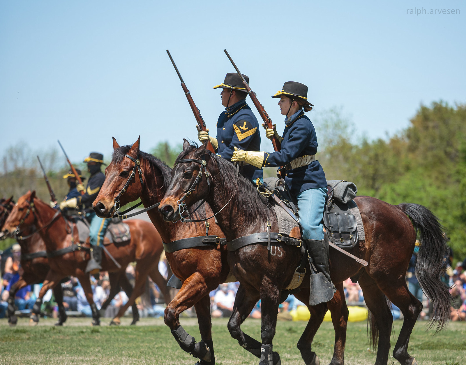 1st Cavalry Division Horse Cavalry Detachment | Texas Review | Ralph Arvesen