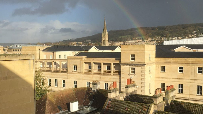 The view from Carpenter House.
