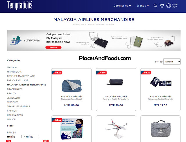 malaysia airlines temptations exclusive merchandise