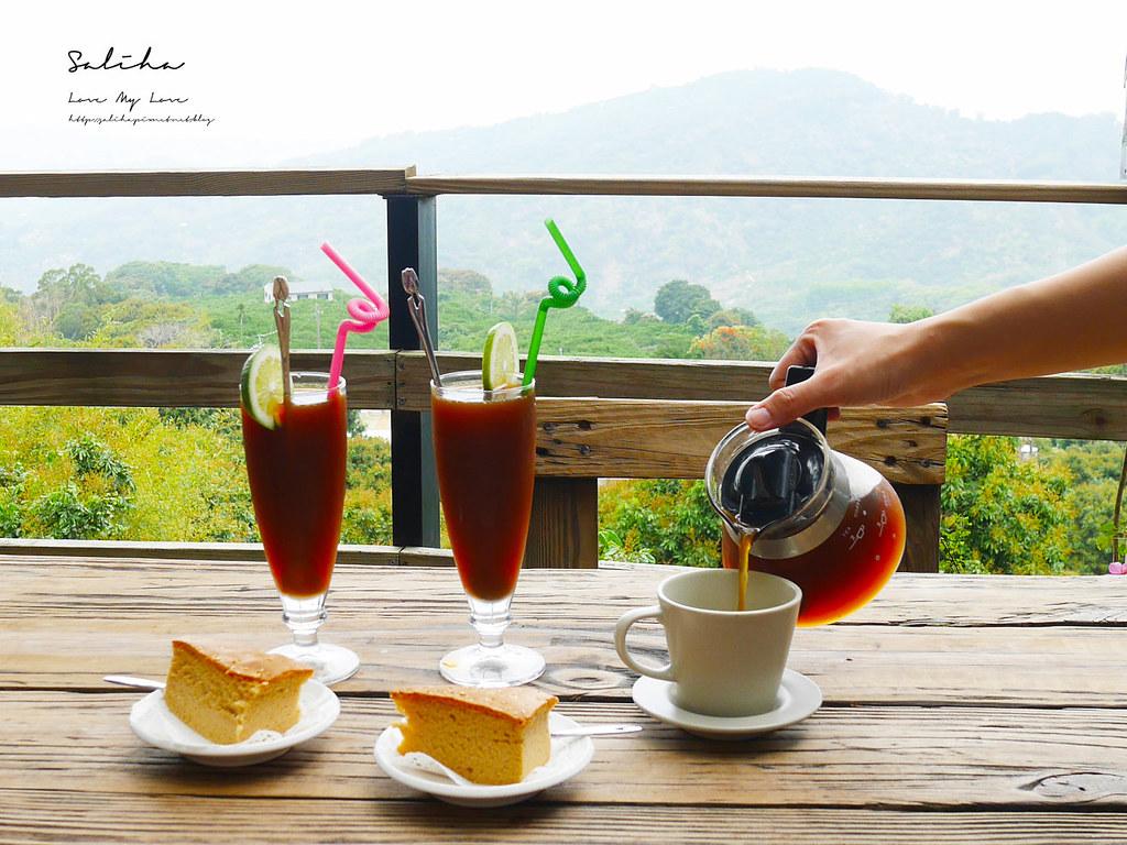 台南東山一日遊咖啡廳下午茶推薦大鋤花間咖啡生態農場景觀餐廳風景優美 (4)