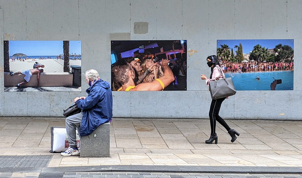 People by the Lancashire Photography Outdoor Exhibition