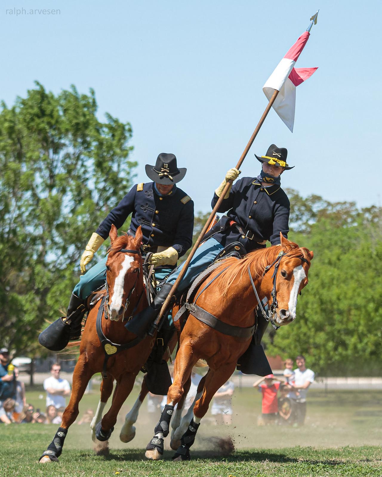 1st Cavalry Division Horse Cavalry Detachment   Texas Review   Ralph Arvesen
