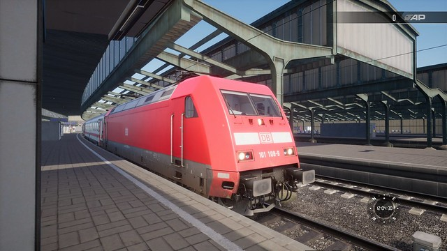 TSW2 - A DB Class 101 locomotive at Duisburg HBF.