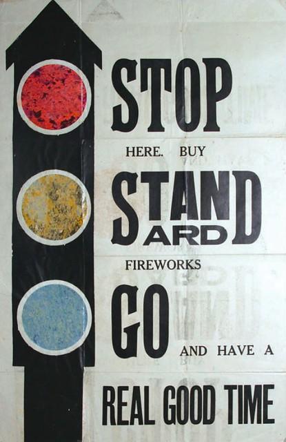 Standard Fireworks - Traffic Lights - Window Display Poster