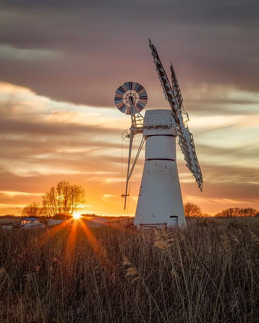 Thurne Mill Sunburst Sunset
