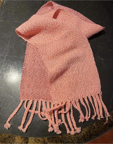 Debbie (Debbiegodfrey)'s second woven project on her Ashford loom using a combination of her own hand spun and wool!