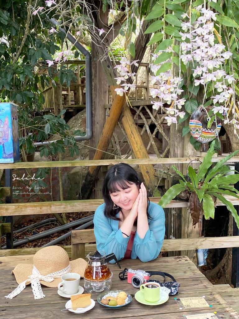 台南東山一日遊咖啡廳下午茶推薦大鋤花間咖啡生態農場景觀餐廳風景優美 (2)
