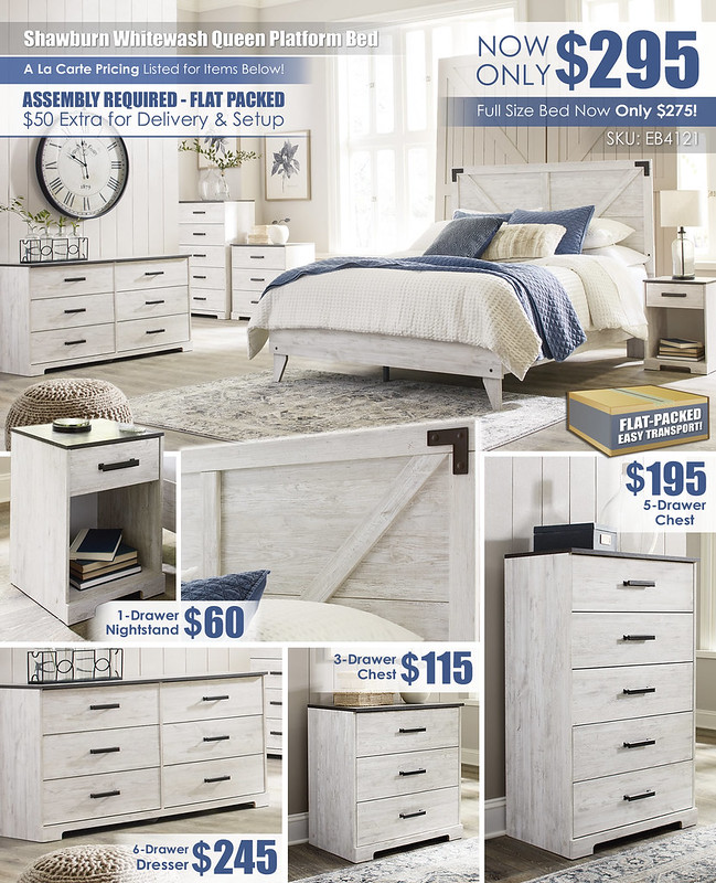 Shawburn Flat Packed Bedroom_A La Carte Special_EB4121_Flat Packed_Update