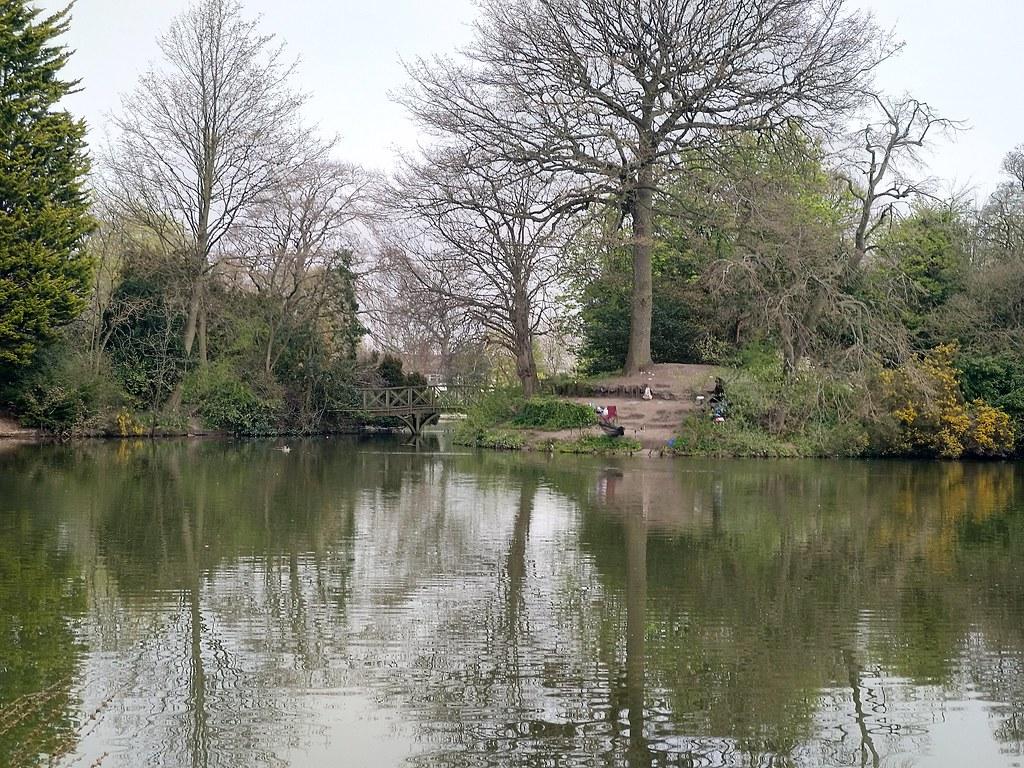 The lakeside of Birkenhead Park, Liverpool