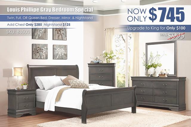 Louis Phillipe Gray Bedroom Special_B3500_2021