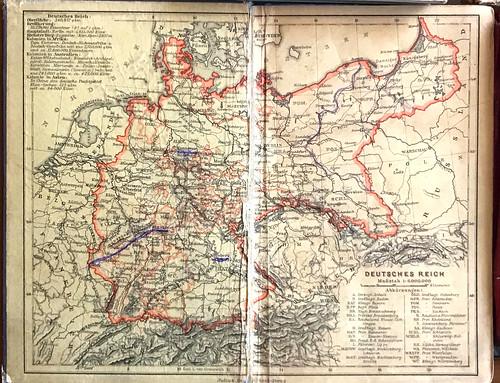 Mapa de Alemania de principios del siglo XX