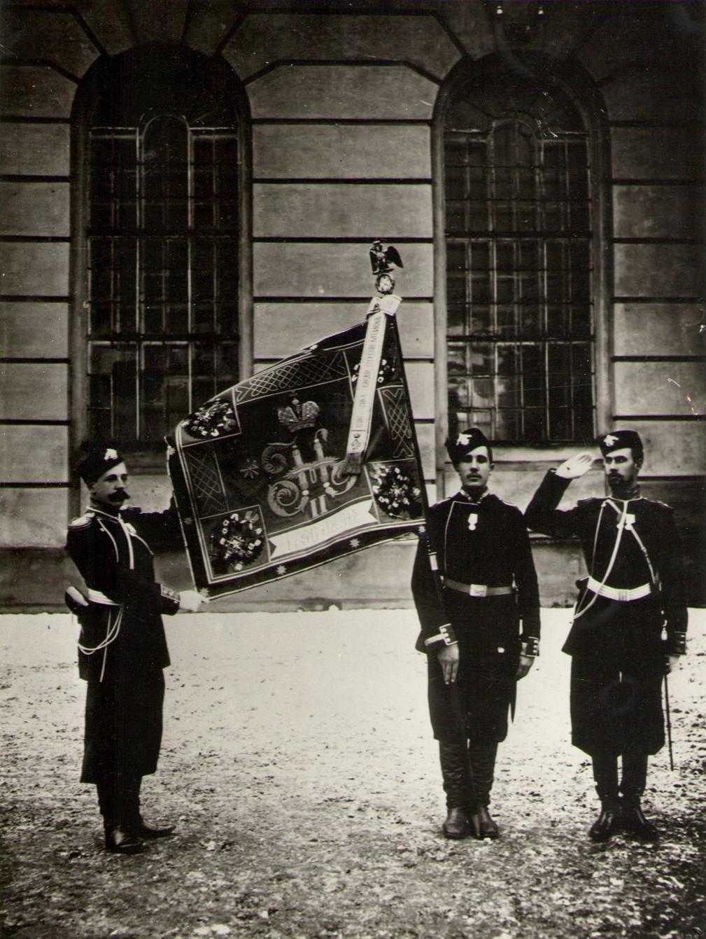 1896. Полковое знамя лейб-гвардии Егерского полка