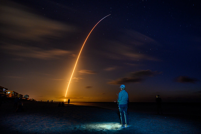 SpaceX Crew-2 Launch from NASA LC-39A - as viewed from Indian Harbour Beach, FL