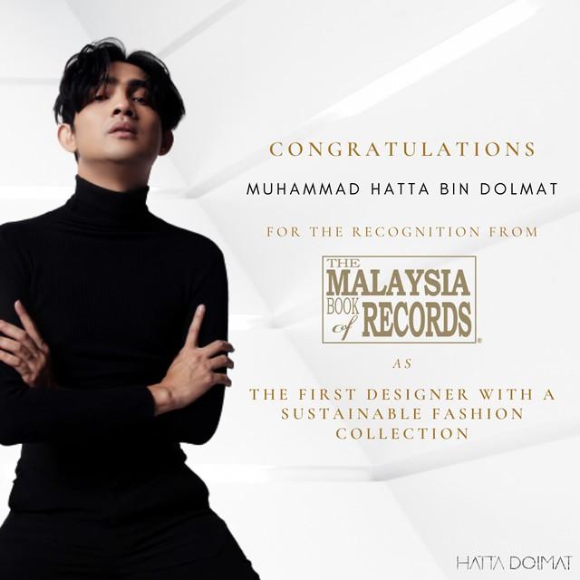 Hatta Dolmat Terima Pengiktirafan Pereka Fesyen Koleksi Lestari Pertama Malaysia
