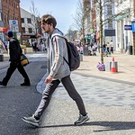 People on main street Preston