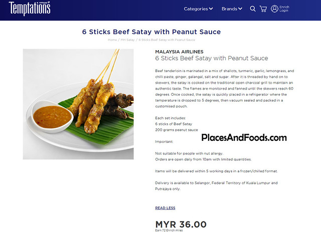 malaysia airlines temptations satay