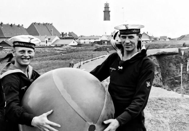 Two Kriegsmarine sailors on Heligoland Island 1937
