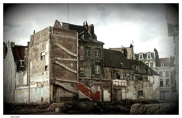 Rénovation du centre-ville de Lille ( Nord ).