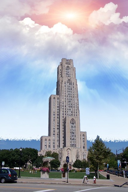 Pittsburgh Pennsylvania - Cathedral of Learning - Historic Building  with replica classrooms from around the world