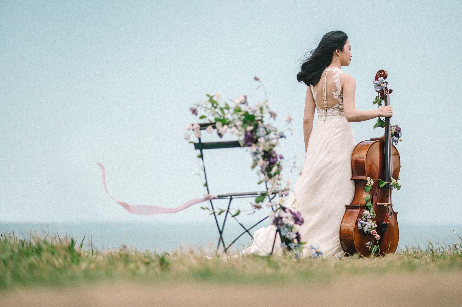 【輕婚紗】Aileen Cellist / 大提琴花藝 / F&P studio