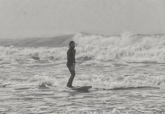 Surf en la niebla