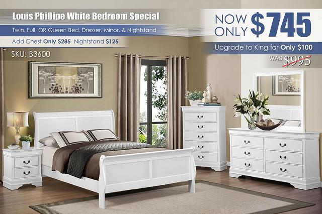 Louis Phillipe White Bedroom Set Special_B3600_2021