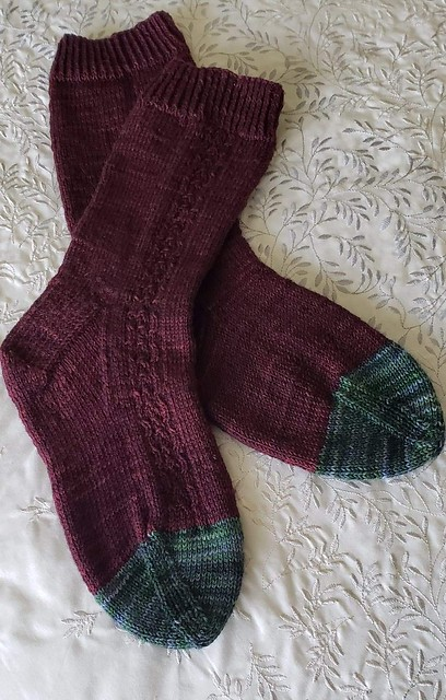 Kay (@kayrobbins) finished this pair of Sailing School Socks by Helen Stewart for her son. Yarn is Urth Yarns Harvest Fingering.