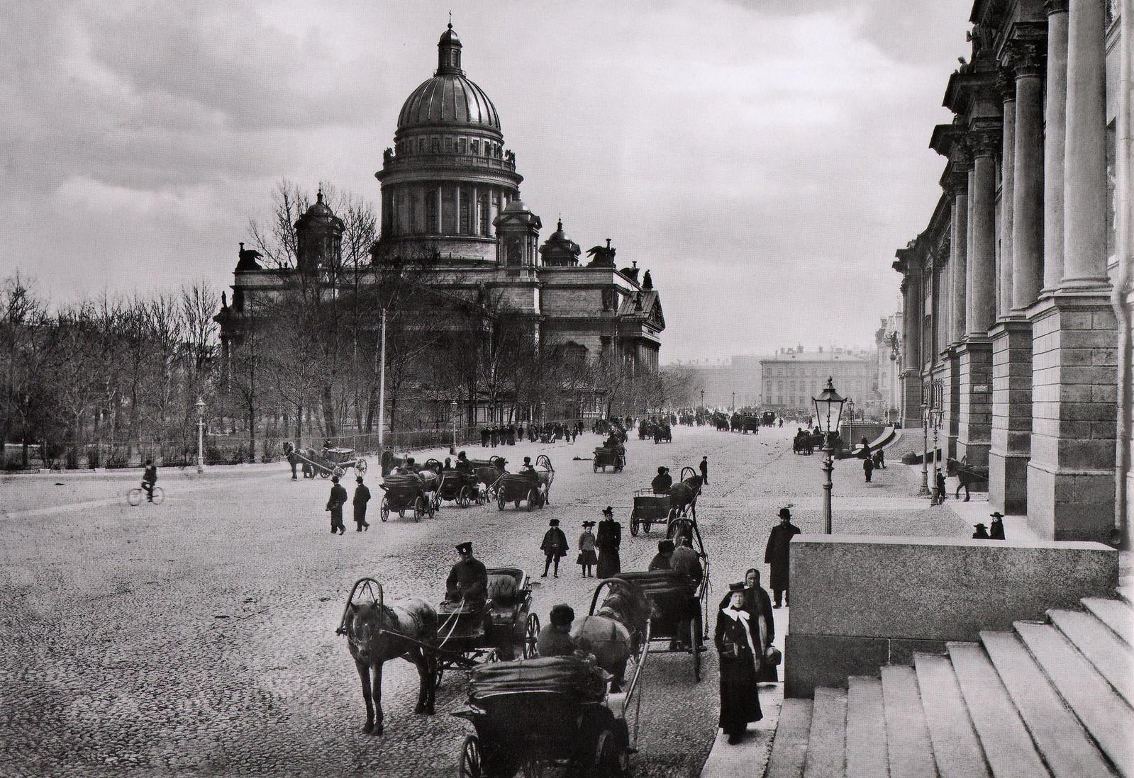 1900. Вид на Исаакиевский собор от здания Сената (вариант)
