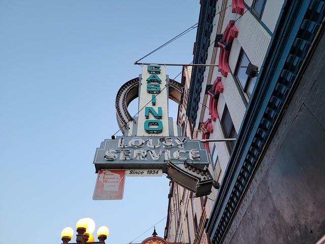 La Crosse, WI Casino neon sign