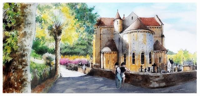 Cénac et Saint-Julien - Nouvelle Aquitaine - France - église de la nativité ( XII ème siècle)