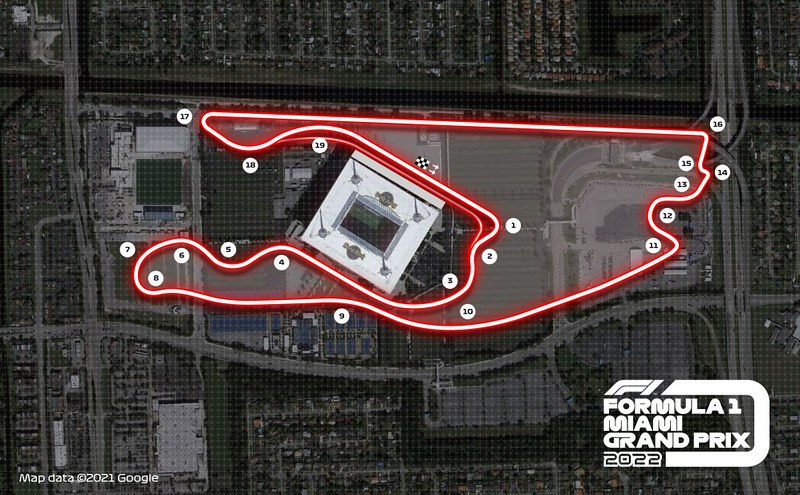 2022 Miami GP layout