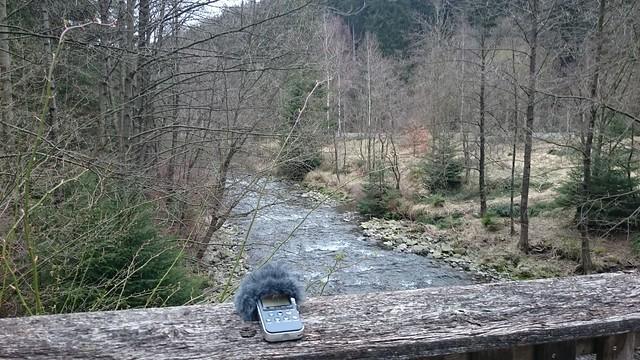 mountain river in april