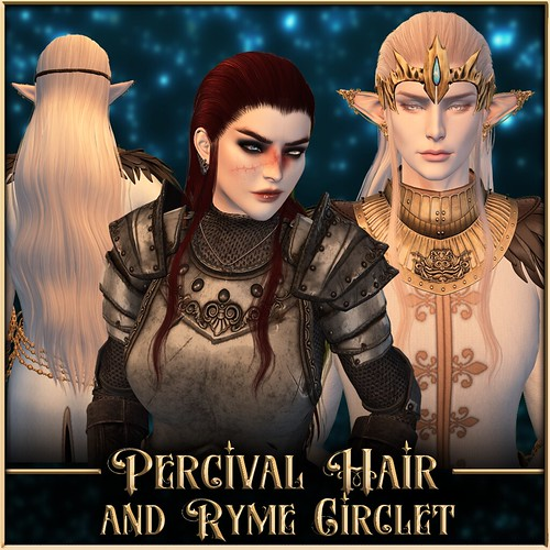 Percival Hair + Ryme Circlet @ Fantasy Faire