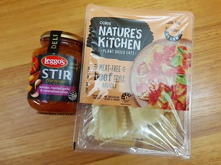 Nature's Kitchen Beef-Style Ravioli and Leggos Sauce