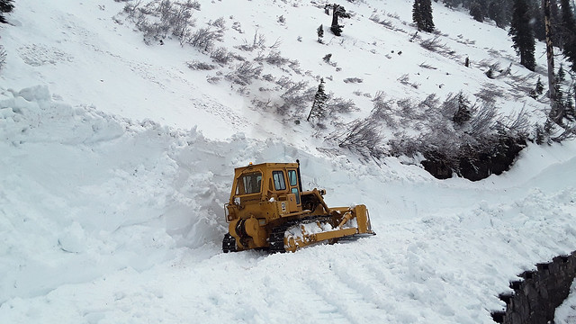 4-22-2021 Plowing the Going-to-the-Sun Road in the section called The Alps
