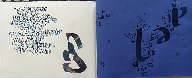 Calligraphie.  Carnet 'lisible, illisible'