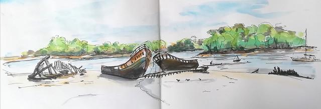 Cimetière de bateau de Kerhervy. Lanester