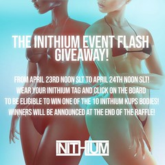 The Inithium Event - Flash Giveaway!