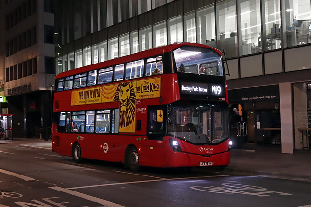 Route N19, Arriva London, HV371, LF67EVH