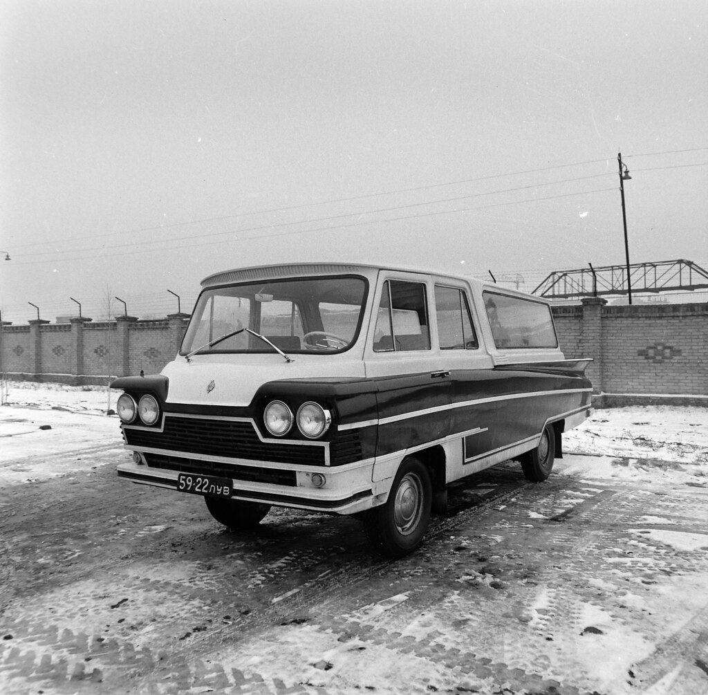 1967. Северодонецк. Образец для испытаний микроавтобусас пластмассовым кузовом и двигателем от Волги
