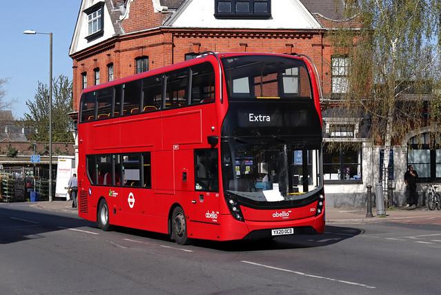 Strike Extra: Route 267, Abellio London, 2021, YX20OCD