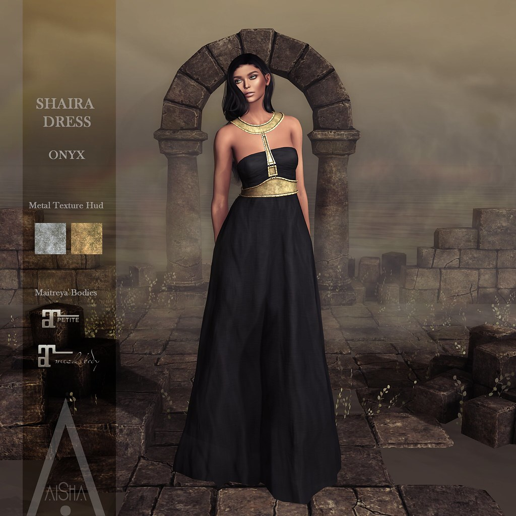 .AiShA. Shaira Dress Onyx @FF2021