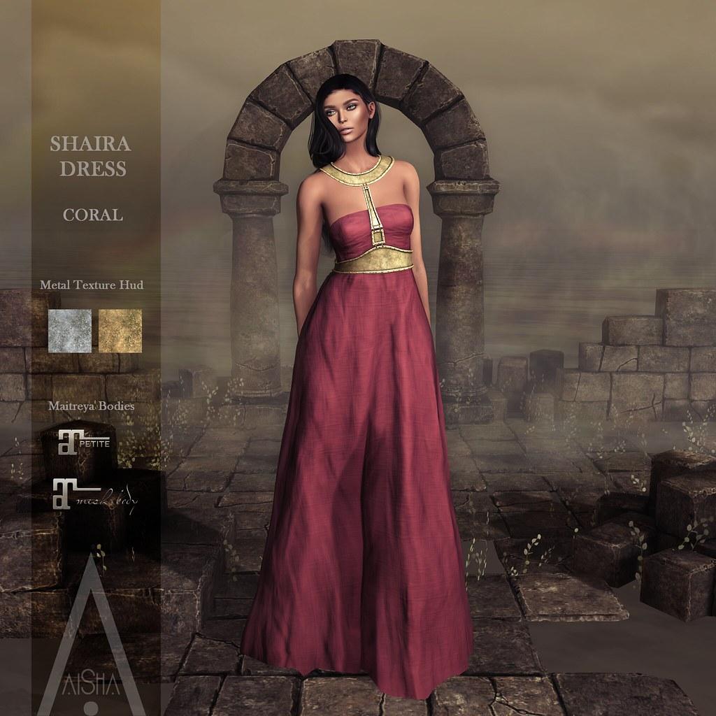 .AiShA. Shaira Dress Coral @FF2021