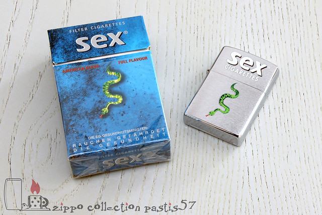 Zippo Sex Cigarettes 2002-09 I-02 Sex Cigarettes German Brand by Independent Brands GmbH Reg 200 Brushed Chrome with Packet