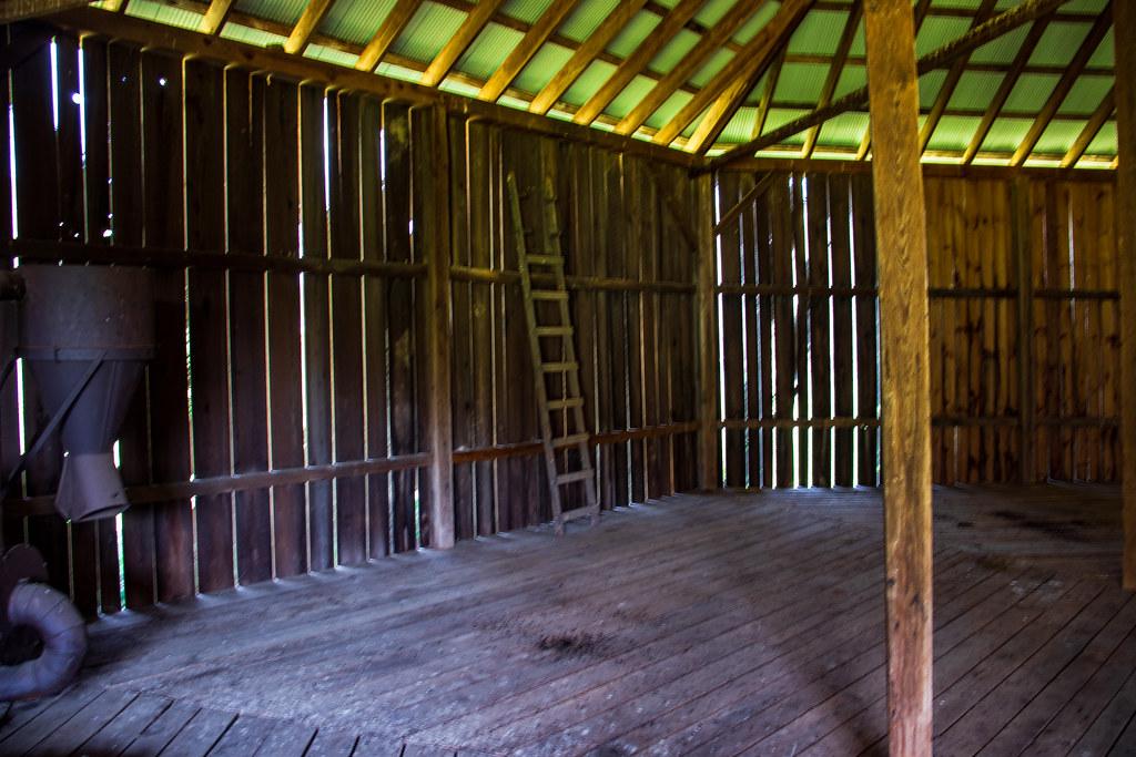 Inside Rankin Octagonal Barn