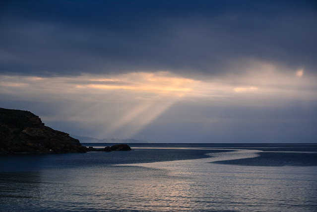 rays over the sea