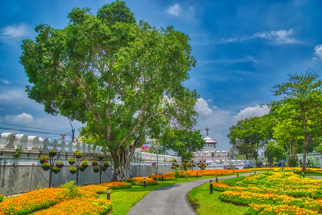 Mahakan Fort and Park on Rattanakosin island (Old Town) in Bangkok, Thailand