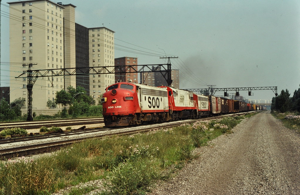 SOO LINE Covered wagons at Chicago IL July 1977