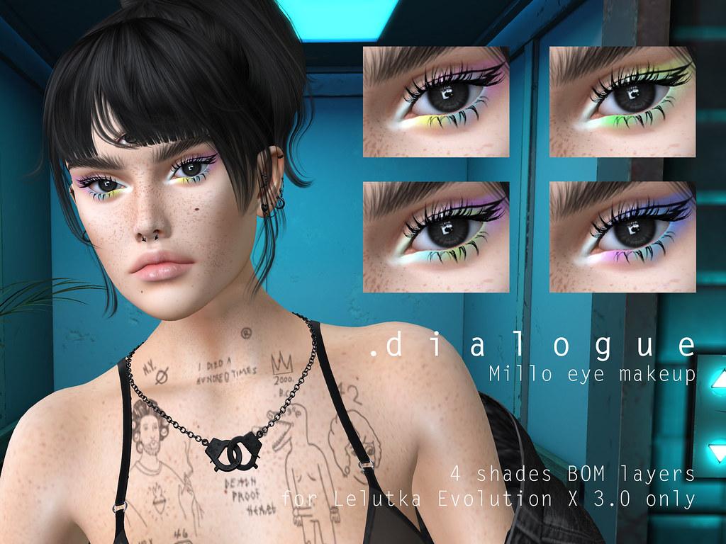 dialogue MILLO eye makeup for Lelutka EvoX 3.0